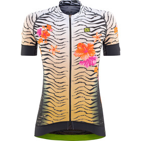 Alé Cycling Graphics PRR Savana Maillot Manga Corta Mujer, white-gold-flou orange